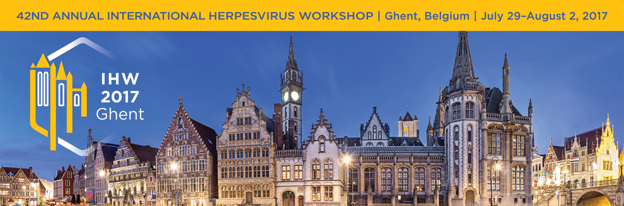 42nd Annual International Herpesvirus Workshop |  Ghent, Belgium | July 29-August 2, 2017